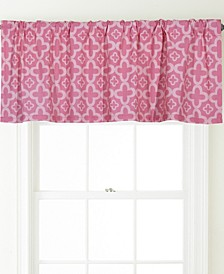 Alex Rod Pocket Printed Curtain Valance, Turquoise, 54 x 18""
