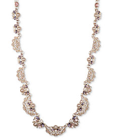 "Marchesa Crystal & Imitation Pearl Collar Necklace, 16"" + 2"" extender"