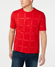 Love Moschino Men's Grid-Print T-Shirt