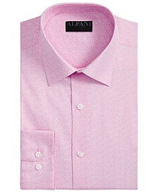 Alfani Men's Classic/Regular-Fit AlfaTech Spiral Dot Shirt, Created for Macy's