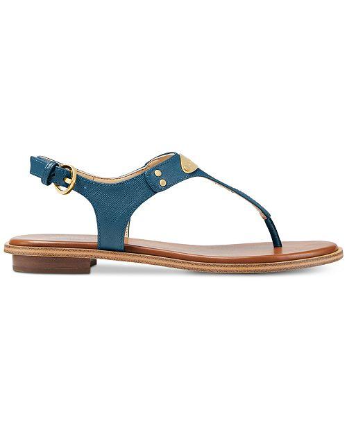 c6841a22dd041e Michael Kors MK Plate Flat Thong Sandals   Reviews - Sandals   Flip ...