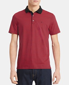 Calvin Klein Men's Micro-Stripe Liquid Touch Polo Shirt