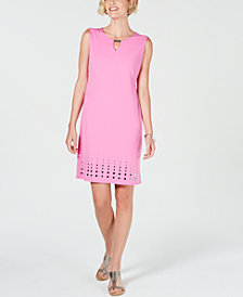 JM Collection Petite Mirror-Hem Sheath Dress, Created for Macy's