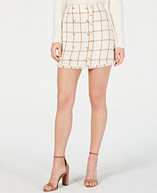 LEYDEN Monroe Printed Mini Skirt