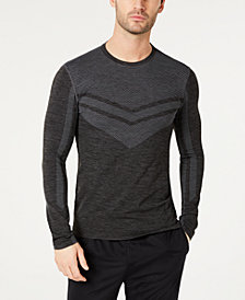 ID Ideology Men's Colorblocked Seamless Long-Sleeve T-Shirt, Created for Macy's