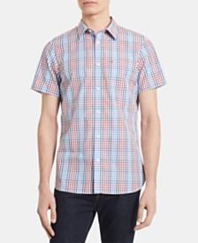 Calvin Klein Men's Grid Pattern Shirt