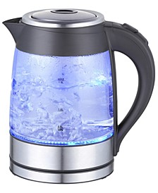 1.8Lt. Glass Body and Stainless Steel Electric Tea Kettle