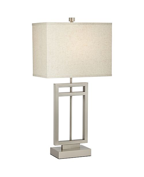 Pacific Coast Brushed Steel Rectangle Table Lamp