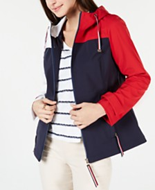 Tommy Hilfiger Colorblocked Utility Jacket, Created for Macy's
