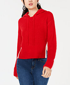 Planet Gold by Golden Touch Juniors' Cropped Hoodie Sweater