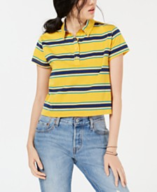 Ultra Flirt by Ikeddi Juniors' Striped Cropped Polo
