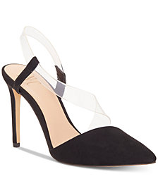 I.N.C. Women's Keilani Crossover Vinyl Pumps, Created for Macy's