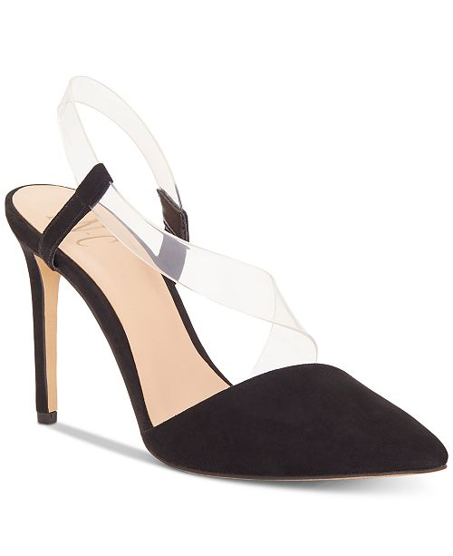 INC International Concepts I.N.C. Women's Keilani Crossover Vinyl Pumps, Created for Macy's