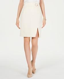 Nine West Waist-Detail Crepe Skirt