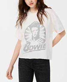 True Vintage Cotton David-Bowie-Graphic T-Shirt