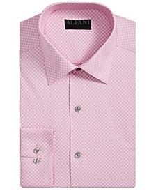 Men's Athletic-Fit Performance Stretch Puzzle Print Dress Shirt, Created for Macy's