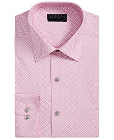 AlfaTech by Alfani Men's Athletic-Fit Performance Stretch Puzzle Print Dress Shirt, Created for Macy's