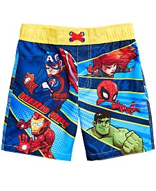 Dreamwave Toddler Boys Super Hero Graphic Swim Trunks