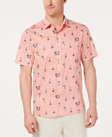 Tommy Bahama Men's Hammock Time Classic Fit Stretch Palm-Print Camp Shirt