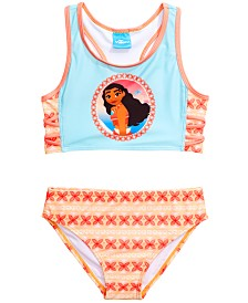 Dreamwave Little Girls 2-Pc. Moana Graphic Bikini