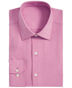 Alfani Men's AlfaTech Athletic-Fit Performance Stretch Moisture-Wicking Heather Dress Shirt, Created for Macy's