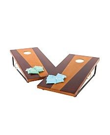 Viva Sol 2' x 4' Bean Bag Toss Game Includes 2 Premium All-Wood Bean Bag Toss Boards and 8 All-Weather Canvas Bean Bags