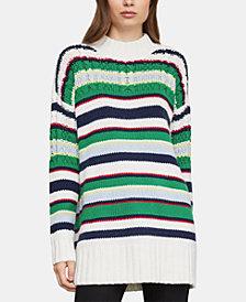 BCBGMAXAZRIA Striped Tunic Sweater
