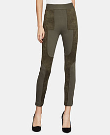 BCBGMAXAZRIA Mixed-Media Leggings