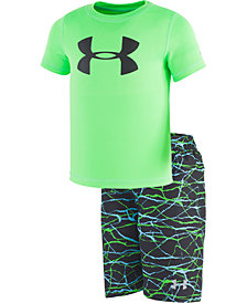 Under Armour Toddler & Little Boys 2-Pc. Rash Guard & Printed Swim Trunks Set