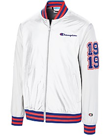 Champion Men's C-Life Colorblocked Satin Bomber Jacket