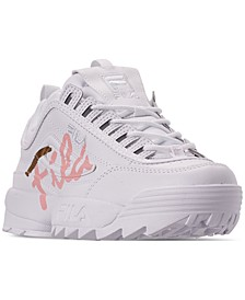 Women's Disruptor II Premium Script Casual Athletic Sneakers from Finish Line