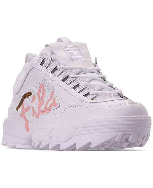 b2cd4ff12d6 ... Fila Women's Disruptor II Premium Script Casual Athletic Sneakers from  Finish ...