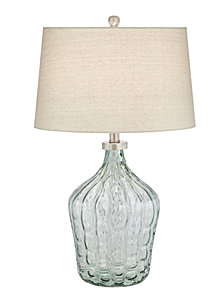 Pacific Coast Clear Green Art Glass Table Lamp