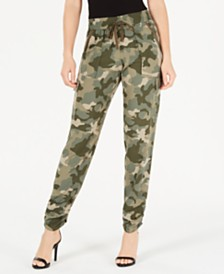 Hippie Rose Juniors' Cargo Jogger Pants