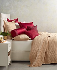 Gold Luxe Border Quilted King Coverlet, Created for Macy's