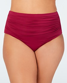 Lauren Ralph Lauren Plus Size High-Waist Swim Bottoms