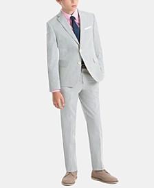 Little & Big Boys Crisp Cotton Suit Jacket & Pants Separates