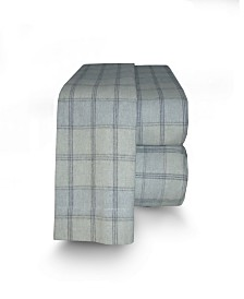 Flannel Plaid Sheet Set King