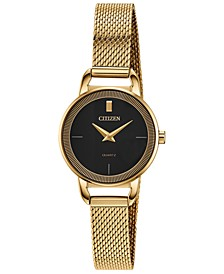 Women's Quartz Gold-Tone Stainless Steel Mesh Bracelet Watch 26mm