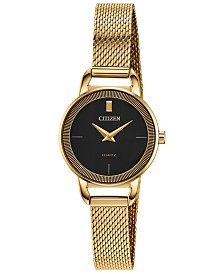 Citizen Women's Quartz Gold-Tone Stainless Steel Mesh Bracelet Watch 26mm