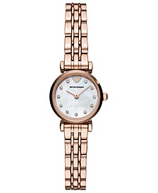 Women's Rose Gold-Tone Stainless Steel Bracelet Watch 22mm
