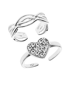 Bodifine Sterling Silver Set of 2 Toe Rings