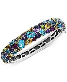 EFFY® Multi-Gemstone (25-1/2 ct. t.w.) Bangle Bracelet in Sterling Silver