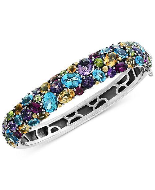 EFFY Collection EFFY® Multi-Gemstone (25-1/2 ct. t.w.) Bangle Bracelet in Sterling Silver