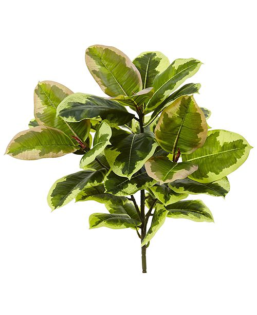 """Nearly Natural 23"""" Rubber Leaf Artificial Plant Real Touch, Set of 3"""