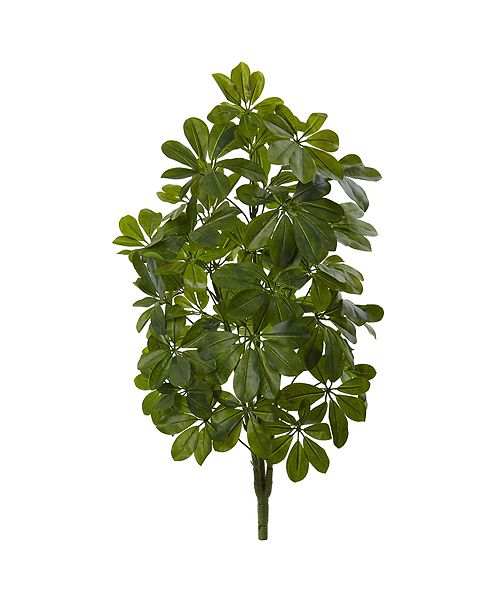"""Nearly Natural 32"""" Green Baby Schefflera Artificial Plant Real Touch, Set of 2"""