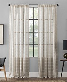 "Twill Stripe Anti-Dust Curtain Panel, 52"" x 63"""