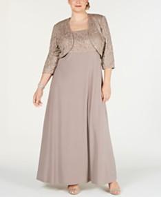 Tan/Beige Plus Size Dresses - Macy\'s