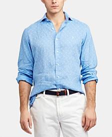 Men's Classic Fit Lighthouse Linen Shirt