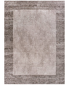 "KAS Retreat Border 114 Taupe 1'8"" x 2'7"" Runner Area Rug"
